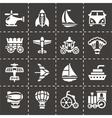 Vehicles icon set vector image