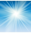Abstract Light on Blue Background vector image vector image