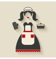 baking concept girl with pie vector image