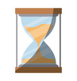 colorful silhouette of sand clock with half shadow vector image