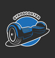 electric scooter logo vector image