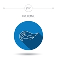 Fire flames icon Blazing bonfire sign vector image