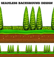 Seamless background with trees in the park vector image