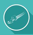 speeding running shoe sport vector image