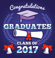 students congratulating graduation vector image