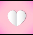 White paper heart on pink background vector image