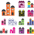 0708 House icons set vector image