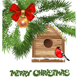Christmas Birdhouse vector image vector image