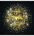 Gold glitter christmas background design vector image