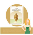 pack of jerusalem artichoke seeds icon vector image