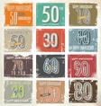 Collection of vintage retro grunge anniversary vector image vector image