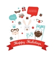 Photobooth Birthday and new year party set vector image