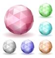 Low polygonal spheres vector image