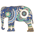Asian elephant with patterns vector image vector image
