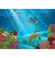 Underwater Cartoon Landscape vector image