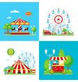 colored amusement park composition vector image