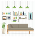 cozy living room vector image