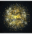 Gold glitter christmas background design vector image