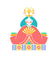 icons japanese empress dolls vector image