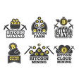 labels or logos for companies monochrome badges vector image