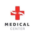 medical center logo template creative design vector image