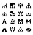 meeting icons vector image