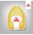 Plastic Food Container for Chicken Yellow vector image
