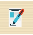 signing document design vector image
