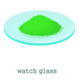 watch glass icon cartoon style vector image