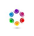 People social networking app logo vector image vector image