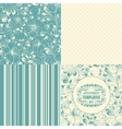 Beautiful seamless backgrounds set vector image vector image