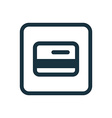 Credit card icon Rounded squares button vector image