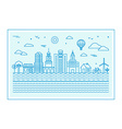 with city skyline vector image vector image