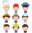 professional people avatars vector image vector image
