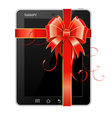 present tablet pc vector image vector image