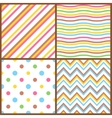 Set of seamless colorful patterns for easter eggs vector image