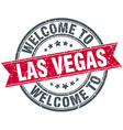 welcome to Las Vegas red round vintage stamp vector image
