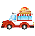A vehicle selling hotdogs vector image