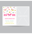 Baby Girl Arrival Card with a Butterfly Theme vector image