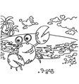 Crab Coloring Pages vector image