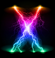Crosswise lightning lines vector image