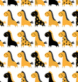 Cute funny seamless pattern with horses background vector image