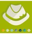 Flat design hat vector image