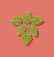 paper sticker on stylish background plant monstera vector image