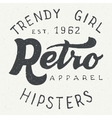 Retro apparel label typographic design vector image