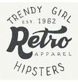 Retro apparel label typographic design vector image