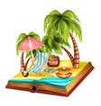 Summer Open Book vector image