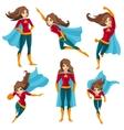 Superwoman Actions Icon Set vector image