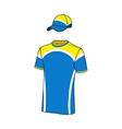 T-shirt sport designs and baseball cap vector image