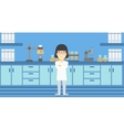 Female laboratory assistant vector image vector image